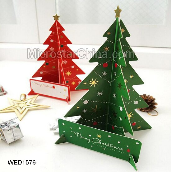 Hot Sales Creative Stereo Christmas Cards Christmas Tree Decoration Christmas Photo Props