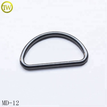 Bag accessory glitter D shape pin buckle alloy large D ring with factory price