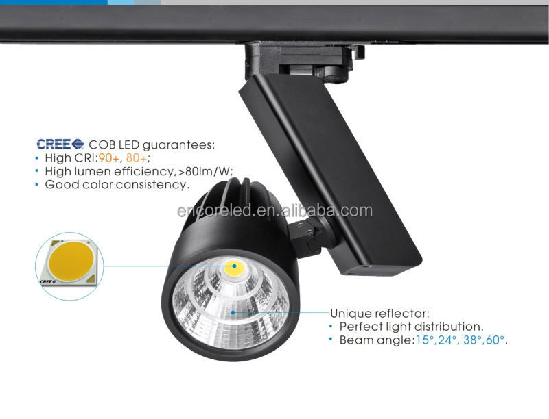 Led cob track light with 10d15d24d38d60d beam angle triac dali led cob track light with 10d15d24d38d60d beam angle mozeypictures Image collections