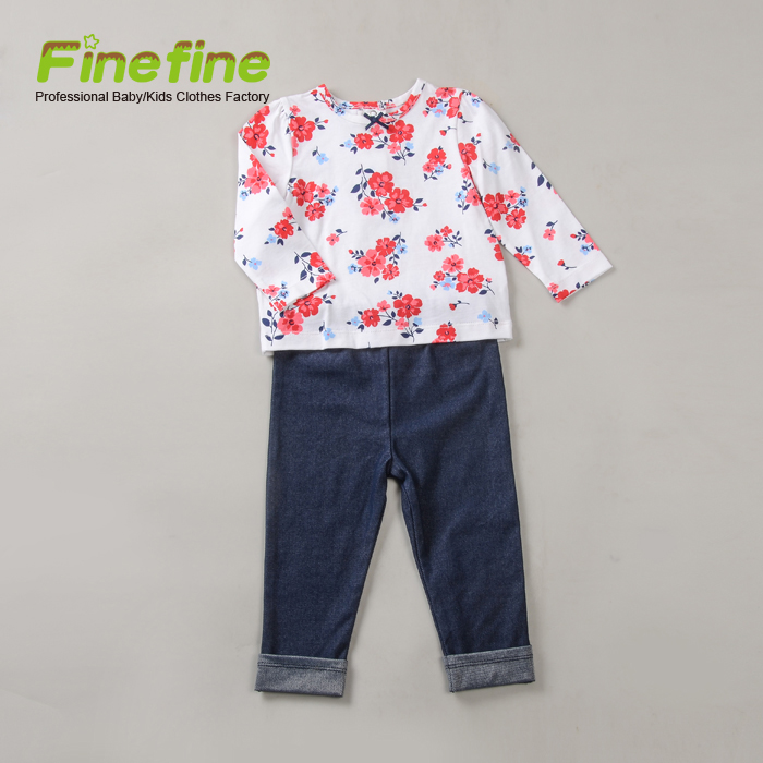Wholesale Latest Fashion Cute Infant Toddler Baby Clothes Cotton For Little Baby Girl