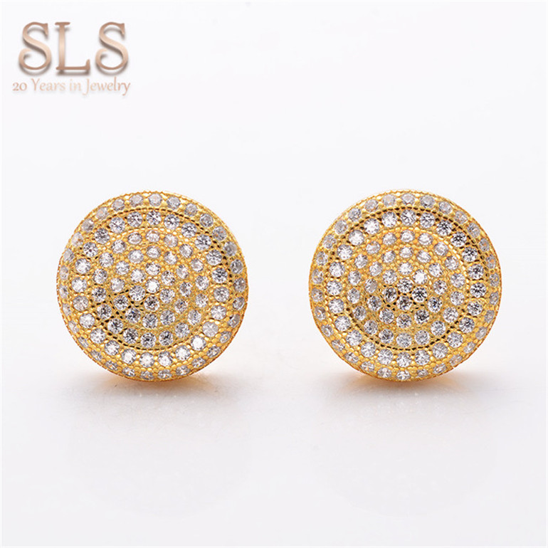 Stud Earrings Kind-Hearted Fansheng New Vintage Gold Earrings For Women Two Color Gold Jewelry & Accessories Silver Plated Party Jewelry Earring Style Free Shipping Evident Effect