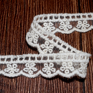 Cheerslife China supplier wholesale cotton embroidery on mesh voile lace nylon flower ladder lace trimming QB01030
