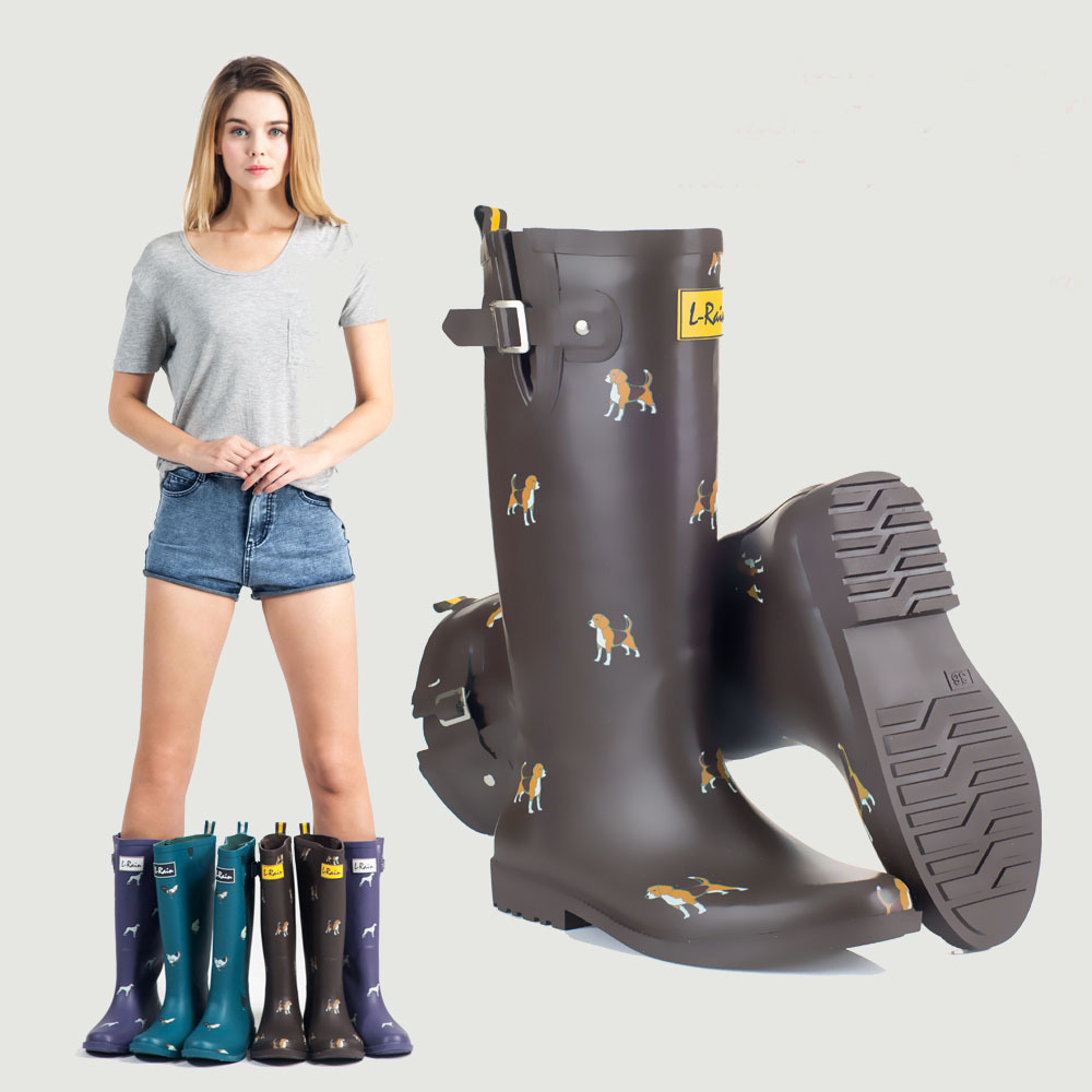 All Long Rubber Rain Boots Women High Rubber Overshoes