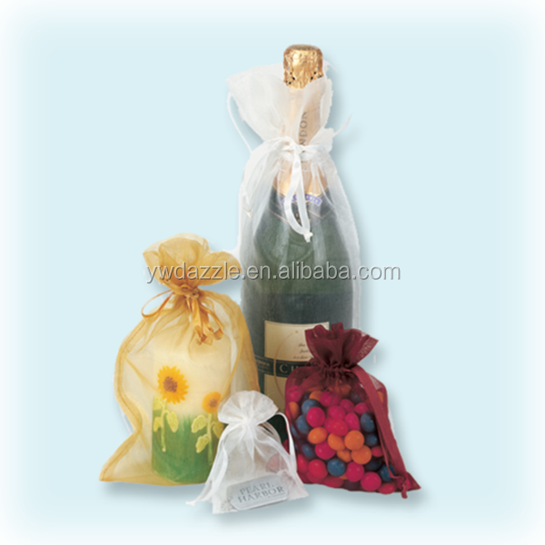 Promotional drawstring organza wine bags manufacturer in China