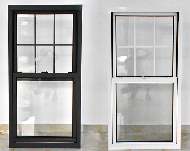 Double hung vertical sliding windows with low-es