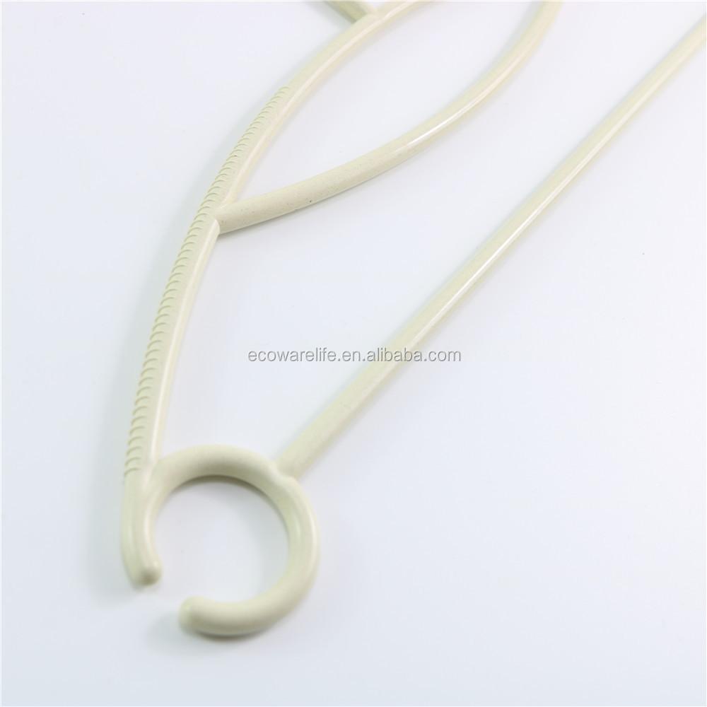 100% a base vegetale eco appendiabiti, non di plastica eco-friendly PLA fibra di bambù grucce