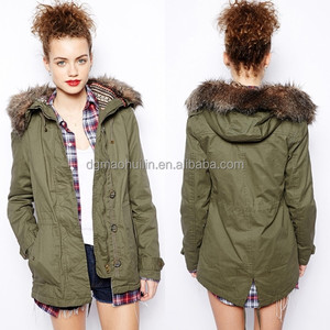 Women's clothing oem supplier trench coat women parka for winter