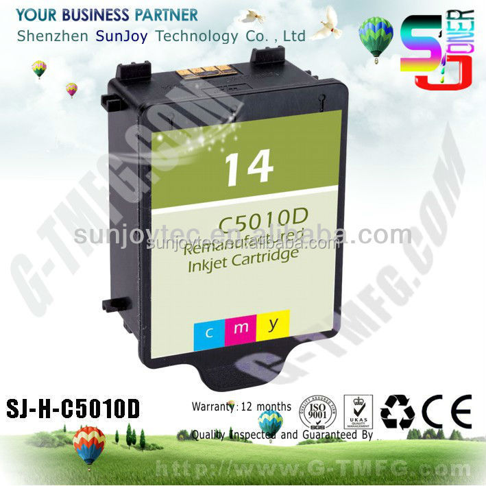 Wholesale Printer Ink Cartridge Compatible C5010D 14 for HP Digital Copier Printer 610, HP OfficeJet D125, D135, D145, D155, 711