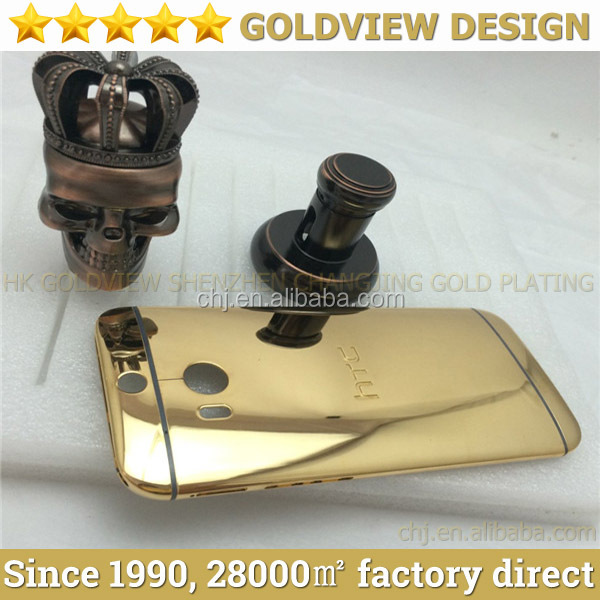 Wholesale gold Housing for HTC One M8 24k gold. 24ct rose gold for HTC m8 mirror finished