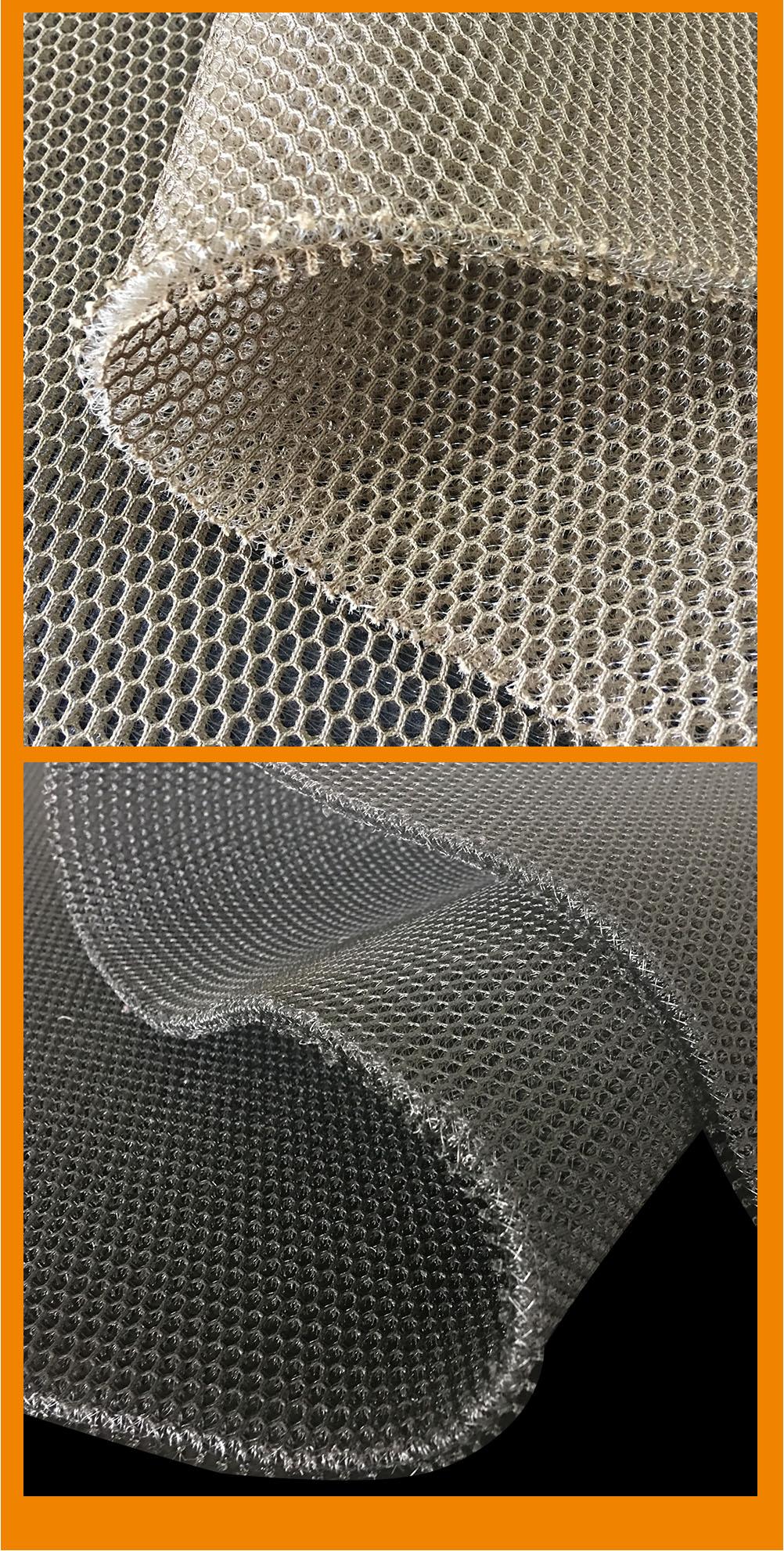 Warp knit polyester sandwich 3d air mesh fabric for chair cushion