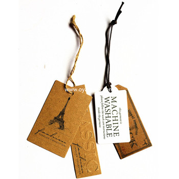 Tied String Paper Swing Price Tags Labels For Sports T-shirts ...