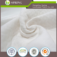 pu coated poly knit stretch fabric for waterproof mattress cover