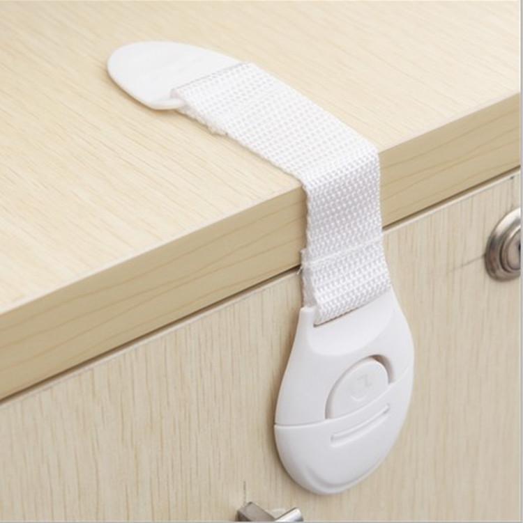 5 pcs Lot Cloth Baby Safety Drawer Cabinet Locks Straps Toilet Refrigerator Strap Locks Baby Safety