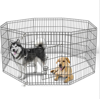 "42"" Tall Wire Fence Pet Dog Folding Exercise Yard 8 Panel Metal Play Pen"