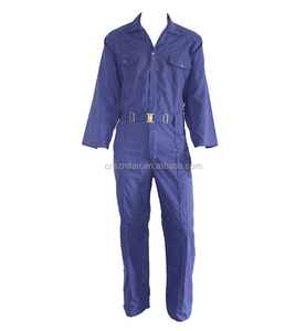 Hot selling various cotton polyester unisex coveralls security uniform workwear