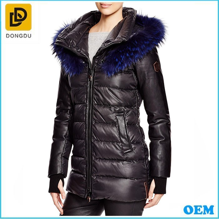 dcc587c1b24 Women Long Duck Real Feather Western Down Filled Jacket - Buy ...