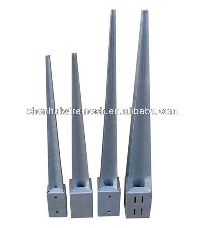 hot post anchor/screw anchor fence spike