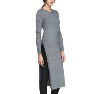 ladies 30%wool sexy winter long sleeve tight longline sweater dress