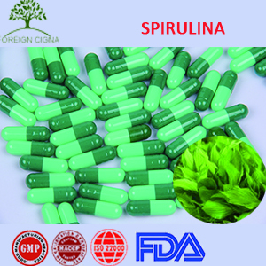 OEM Anti-Fatigue Essence Healthcare Spirulina 400mg Soft gels Capsules