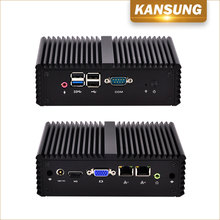 OEM Quad Core Desktop Dual Display Micro Computer Server Linux Lan Port with 4gb Ram 2 Ethernet Dual Nic Mini PC