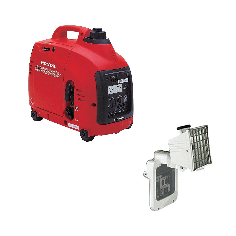Get Quotations · Honda Power Equipment EU1000i 1000W Portable Gas Generator,  500 Watt Light Kit
