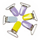 MSC05 23mm Popular Colorful Metal Suspender Clip/Pacifier Clips With Teeth