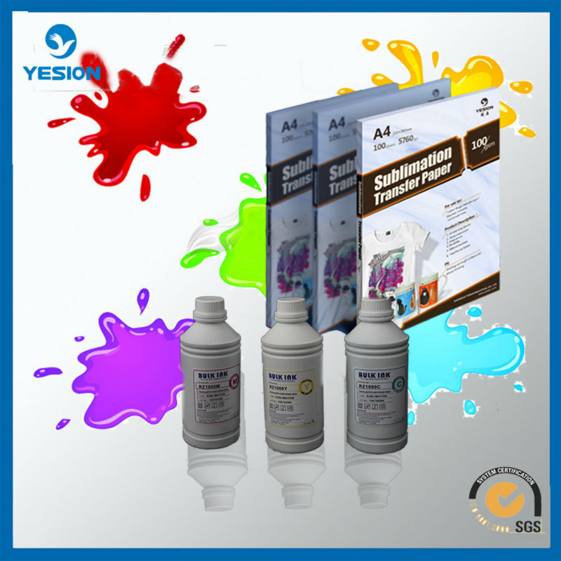 Best Seller- inkjet printing sublimation ink/ Original waterproof sublimation inkjet inks ICC profile provided