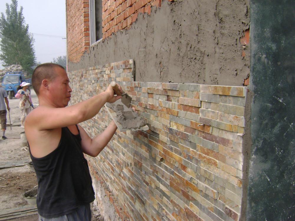 Cultura pizarra piedras para la pared exterior house Pared de piedra precio