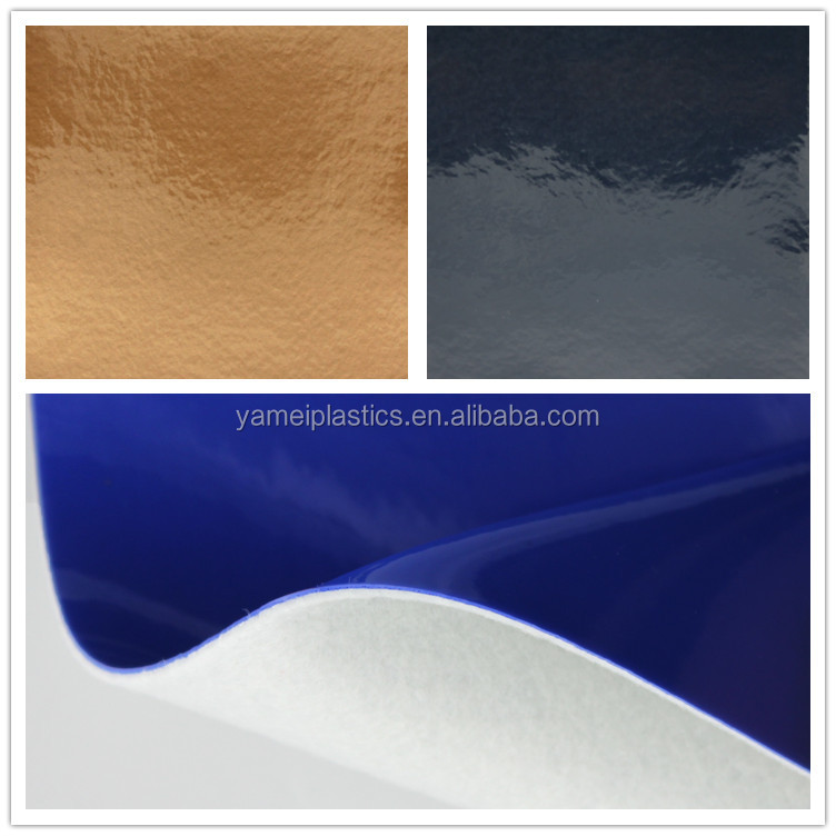 Polyvinyl Chloride faux metallic leather for soccer boots and baseball shoes