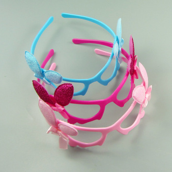 Factory Price Fashion Baby Hair Accessories plastic Bowknot Plain Baby  Headbands 552cf49558a