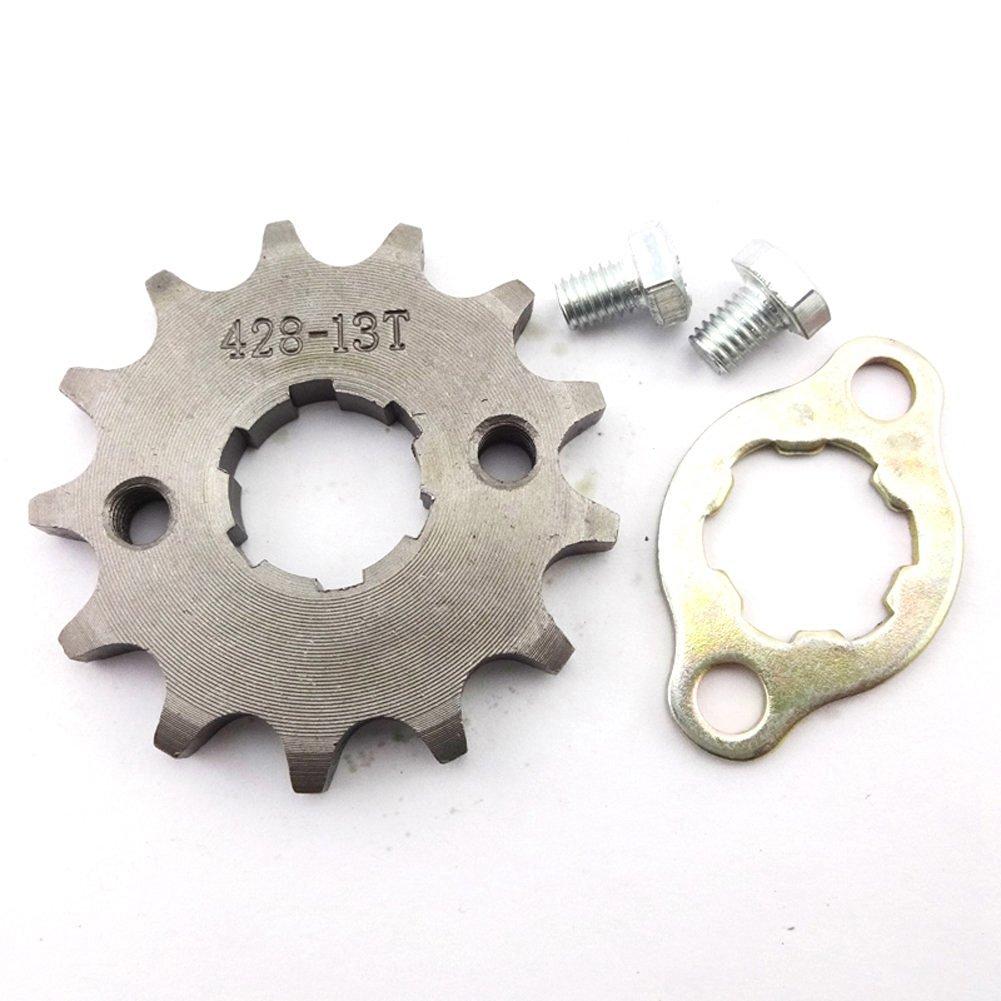17//14mm for ATV DIRT BIKE 50CC 70 110CC 125CC 428 Chain 13 TOOTH Sprocket
