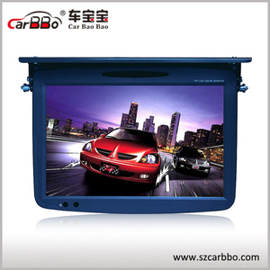19 inch hardware digital screen 1440*RGB*900 FTF LCD flip down car monitor with DVD player / usb sd / tv tuner