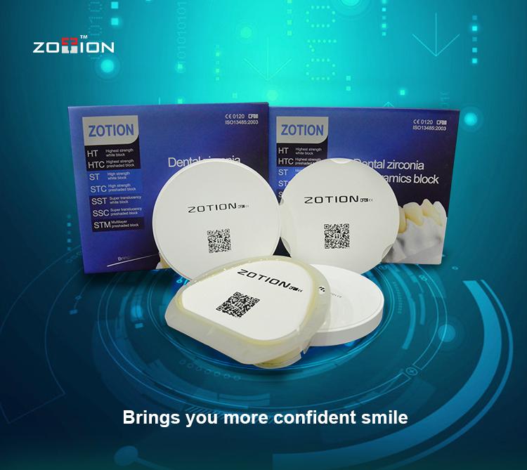 ฟันปลอมมงกุฎวัสดุ zirconia disc สำหรับห้องปฏิบัติการเซรามิคใช้