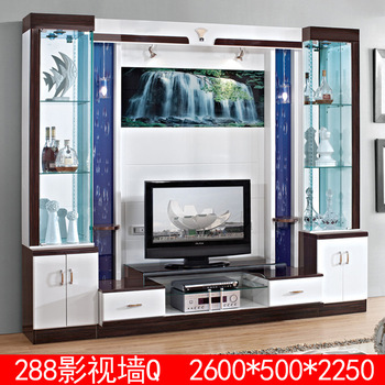 Space Saving Living Room Mdf Tv Desk Wall Unit Design