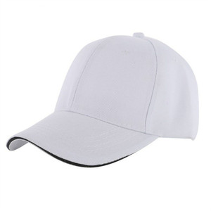 0de942166238e Wholesale women white baseball cap sandwich brim sun visor caps curve brim  casquette male lady discount