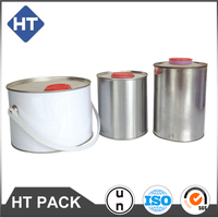 Factory direct solvent buckets,round ink barrels closed head with plastic cap, oil pail printing and logo customized