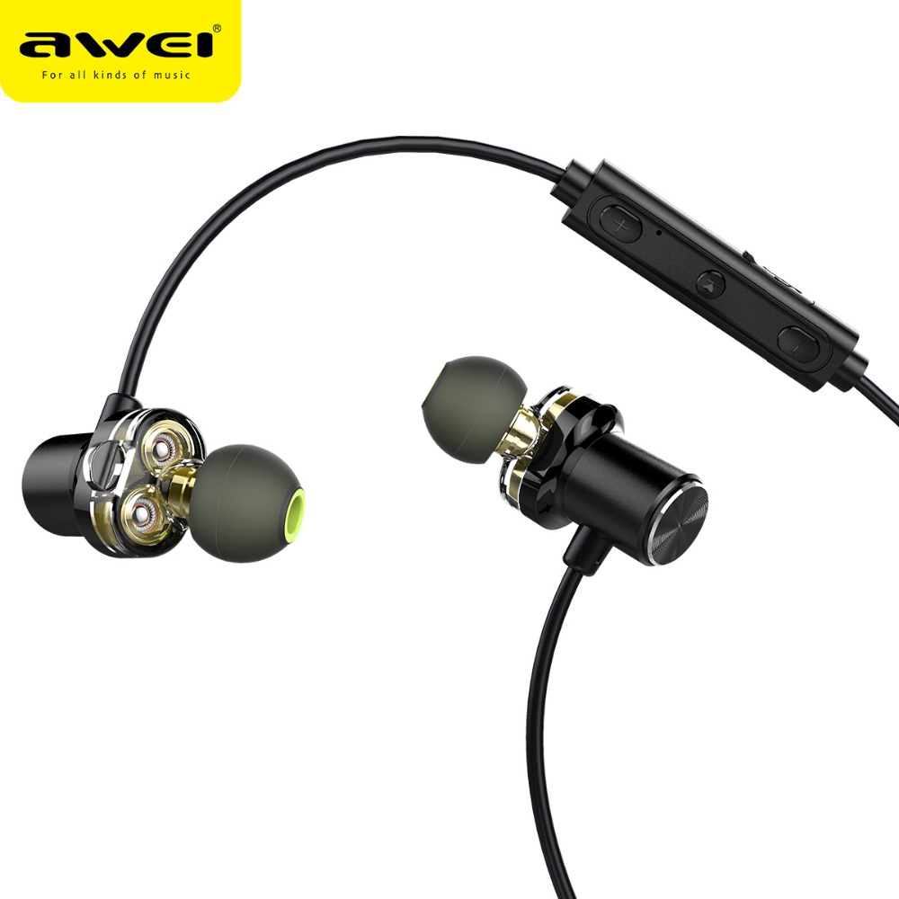 New Type in ear latest awei X680BL dual volume control headphones
