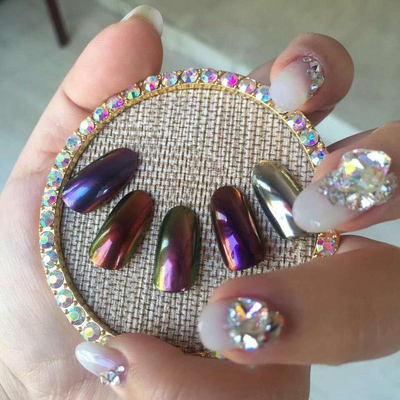 Mayorista suministros efecto espejo esmalte de uñas 12 color de ...