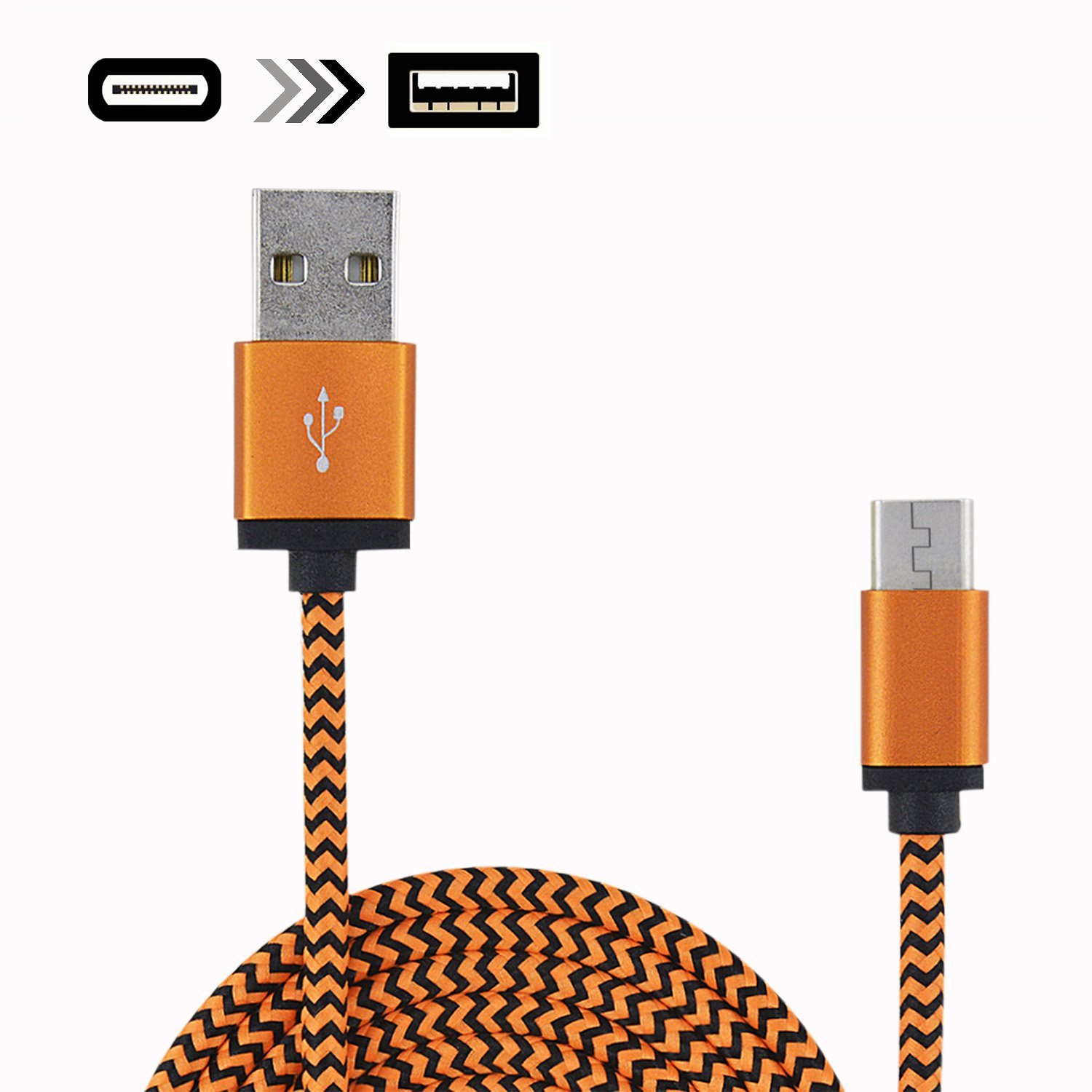 Rancco 2 Pcs 3.3ft Hi-speed Type C to USB A Cable, USB 3.1(USB C) to USB 2.0 Date/ Charger Cable for New Macbook, ChromeBook Pixel, Nokia N1 Tablet, Asus Zen AiO and Other Devices with Type C USB