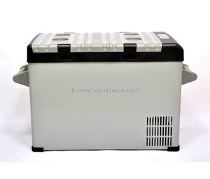 42L Portable DC Compressor Car Refrigerator AC/DC Fridge Travel Freezer 12/24V and 110/220V