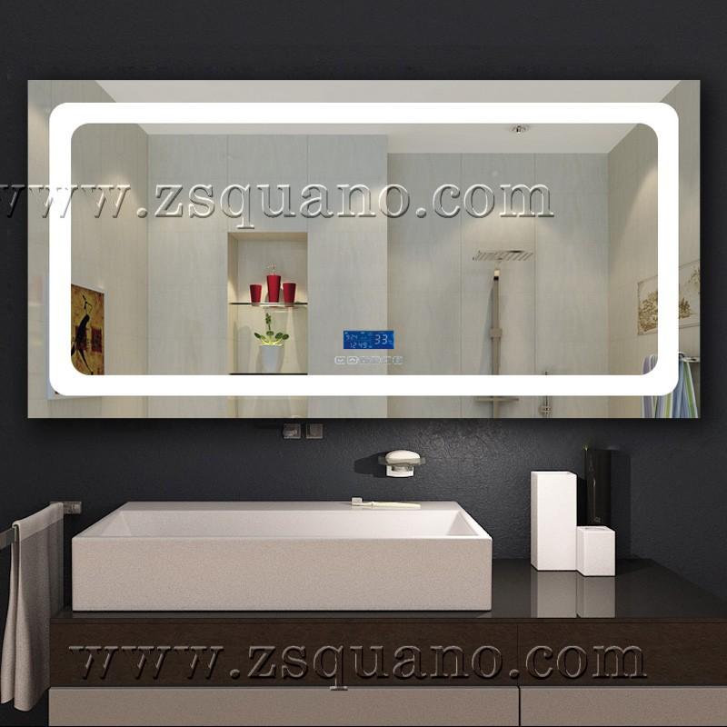 Full length bathroom wall mirror with light illuminated - Full length bathroom wall mirror ...