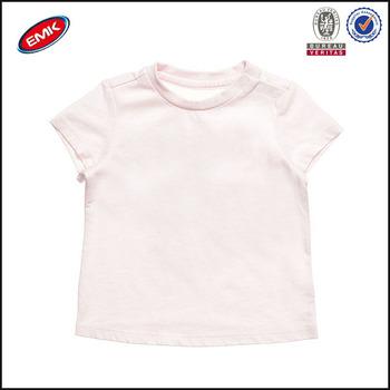 Custom Design Print Baby Clothes Plain Pink Baby Girl T Shirts Buy