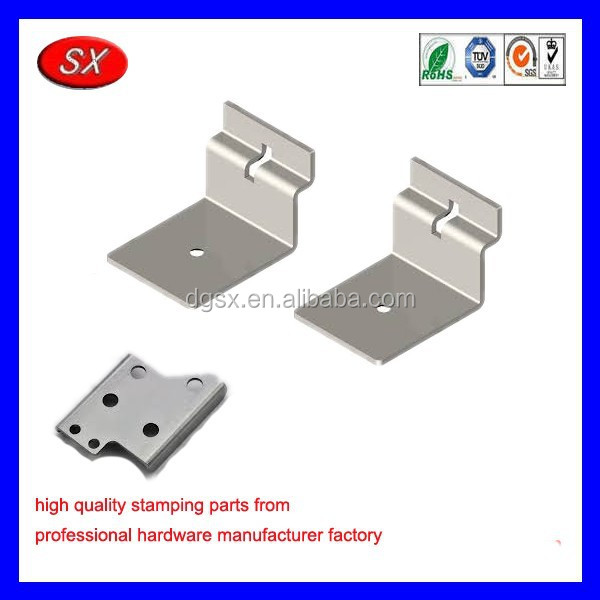 customized mini wood shelf steel stamping parts for hidden shelf brackets