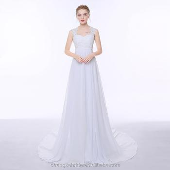 Cheap Chiffon Beach Wedding Dresses Sweep Train Plus Size Bridal Gown For  Pregnant Woman - Buy Plus Size Wedding Dresses Cathedral Train,Plus Size ...