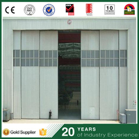 Cheap polycarbonate sliding industrial warehouse hanging door