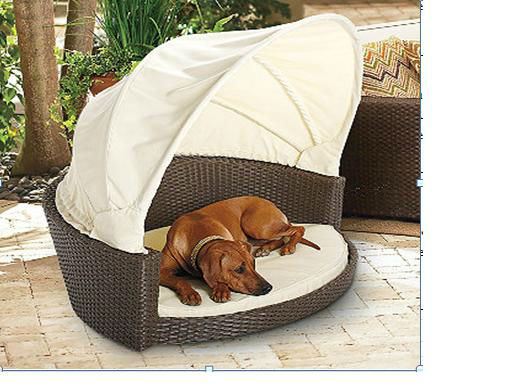 poly rattan dog beg