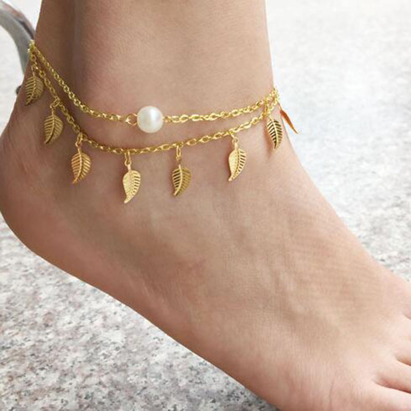 anklet enlarge to gold click anklets real yellow rope diamond cut chain link bracelet itm pure thumbnails