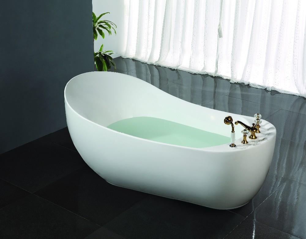 Small Free Standing Bath/single Bath Tub Oval Shape/japanese Soaking ...