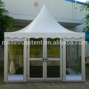 Guangzhou event yard marquee ABS wall wedding tent glass wall 8x8m pagoda small party tents for sale