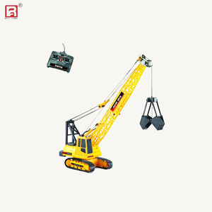 Wire control caterpillar yellow color toy crane with grab